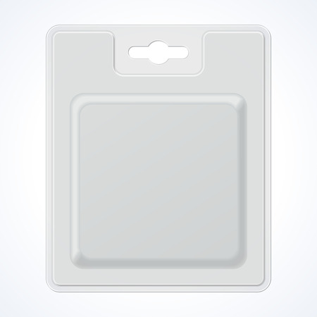 blister: Plastic Square Transparent Blister With Hang Slot, Product Package