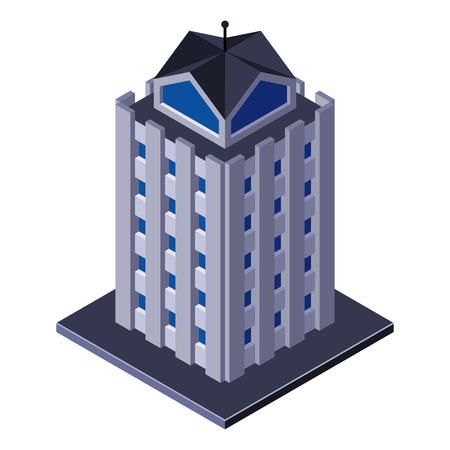 centre d affaires: Gratte-ciel Centre d'affaires du b�timent, bureau, For Real Brochures immobiliers ou l'ic�ne Web isom�trique