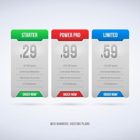 Perfect Web Boxes Hosting Plans For Your Website Design Vector