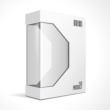 White Modern Software Package Box For DVD, CD Disk Or Other Your Product