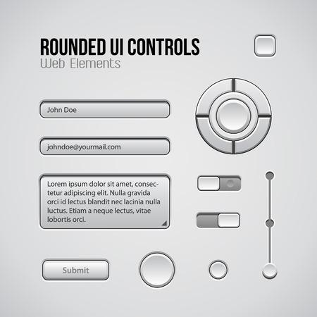player controls: Web UI Controls Elementos de dise�o: botones, conmutadores, On, Off, DVD, Audio, Video: Play, Stop, Siguiente, pausa, volumen, ecualizador, Perillas, barra de navegaci�n, barra de progreso, la investigaci�n, de entrada, la caja de texto, Joystick