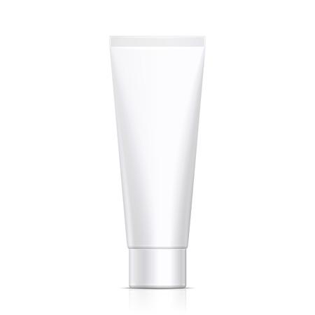 Mock Up Tube Creme oder Gel Graustufen Weiß reinigen. Bereit für Ihr Design. Produkt-Verpackung Vektor-EPS10