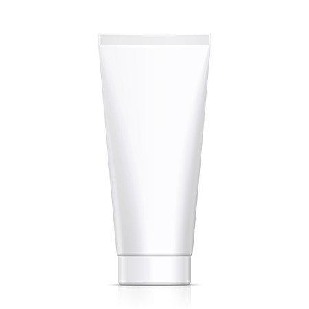 aftershave: Mock Up Tube Of Cream Or Gel Grayscale White Clean. Products On White Background Isolated. Ready For Your Design. Product Packing. Vector EPS10