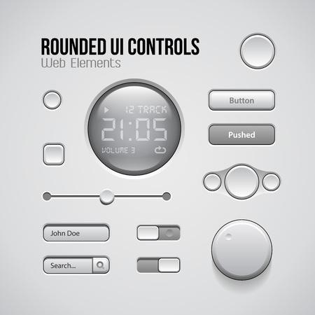 controls: Web UI Controls Design Elements: Buttons, Switchers. EPS 10