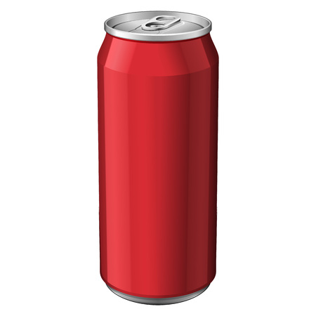 aluminum: Red Metal Aluminum Beverage Drink Can 330ml. Ready For Your Design. Product Packing Vector EPS10