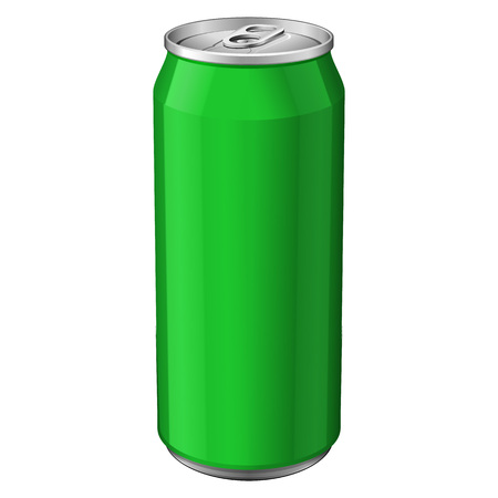 aluminum: Green Metal Aluminum Beverage Drink Can 330ml. Ready For Your Design. Product Packing Vector EPS10