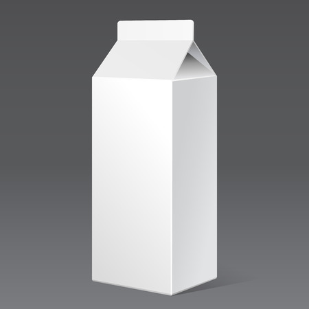 Milk Carton Packages Blank White. Ready For Your Design. Product Packing Vector EPS10
