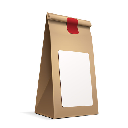 mocca: Slim Paper Bag Package With White Label Sticker