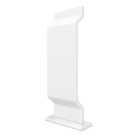 retail display: Outdoor Advertising Stand Banner Shield Display, Advertising.  Illustration
