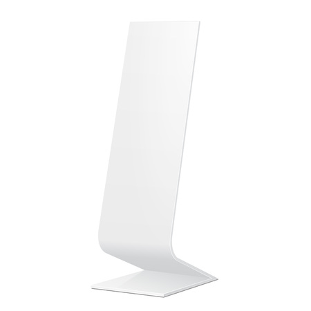 display advertising: Outdoor Indoor Stander Advertising Stand Banner Shield Display, Advertising. Mock Up Products On White Background Isolated. Ready For Your Design. Product Packing.