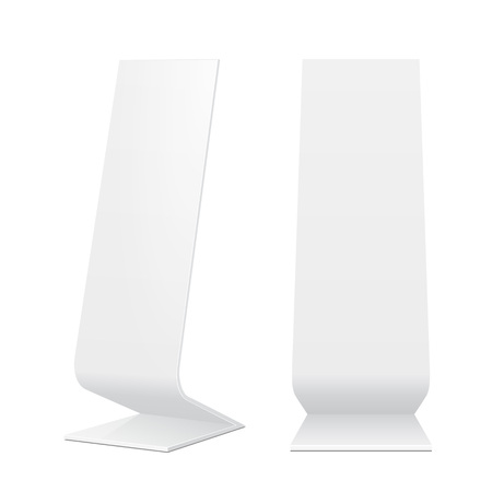 lightbox: Outdoor Indoor Stander Advertising Stand Banner Shield Display, Advertising. Mock Up Products On White Background Isolated. Ready For Your Design. Product Packing.