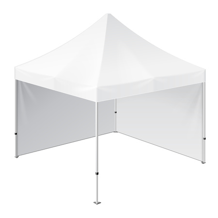 outdoor event: Promotional Advertising Outdoor Event Trade Show Pop-Up Tent Mobile Advertising Marquee. Mock Up, Template. Illustration Isolated On White Background. Ready For Your Design. Product Packing. Illustration