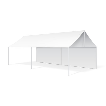 Promotionele reclame Outdoor Event Trade Show Pop-up Tent Mobile Marquee. Stock Illustratie