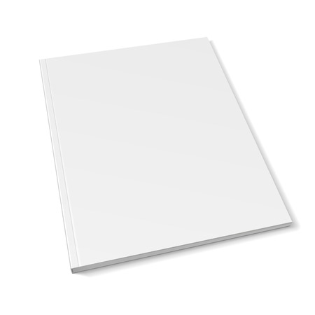 Blank Cover Of Magazine, Book, Booklet, Brochure. Illustration Isolated On White Background. Mock Up Template Ready For Your Design. Vector EPS10.