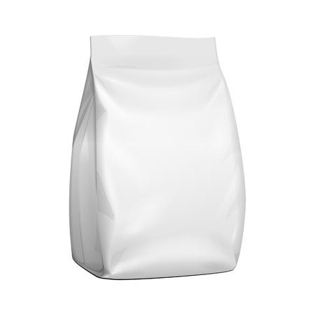 Lege opstaande zakje Snack zakje zak. Bespotten, sjabloon. Illustratie Geïsoleerd Op Een Witte Achtergrond. Klaar voor uw ontwerp. Produkt verpakking. Vectoreps10