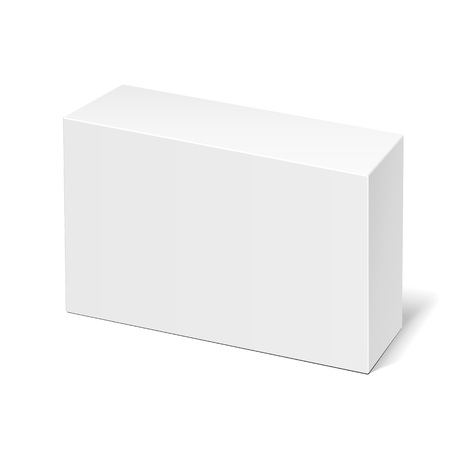 Mockup Product Cardboard Plastic Package Box. Illustration Isolated On White Background. Mock Up Template Ready For Your Design. Vector EPS10