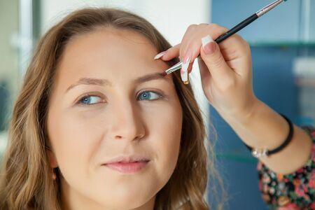 Make up artist do a professional makeup