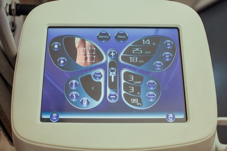 Radiowave body lifting. Cavitation in the beauty salon. Equipment for cavitation of body parts