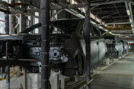 Car body on the production line. Car production. Modern technologies at the plant 写真素材