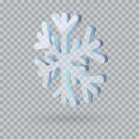 3D vector snowflake isolated illustration Vecteurs