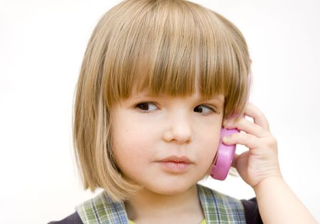 child with a toy telephone Stock Photo - 2943240