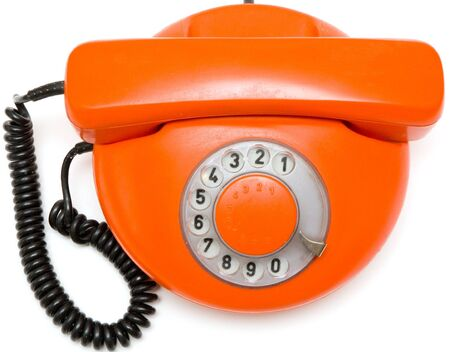 old orange phone