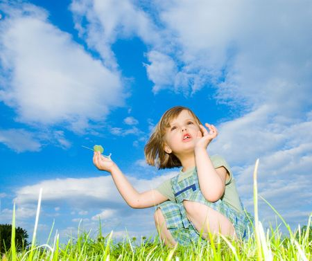 child in the meadow photo