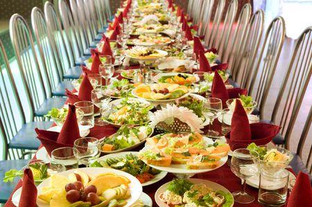 banquets: banquet Stock Photo