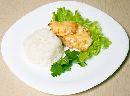 rice and meat photo