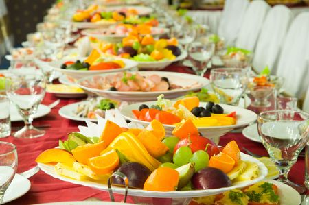 catering food: banquet Stock Photo