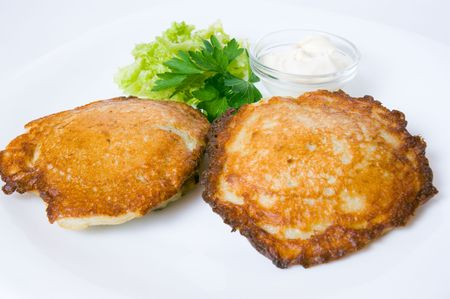 epicurean: potato pancake Stock Photo