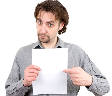moneymaker: a guy holding a white blank sign