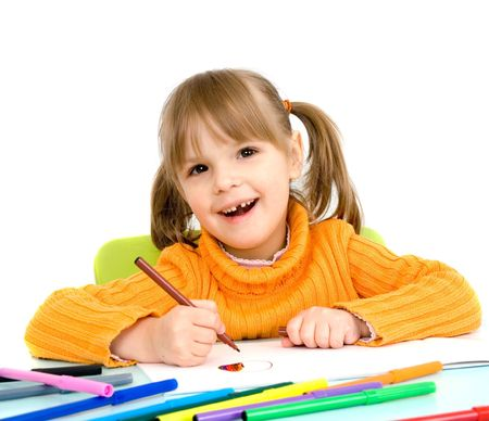 child draws Stock Photo - 4538164