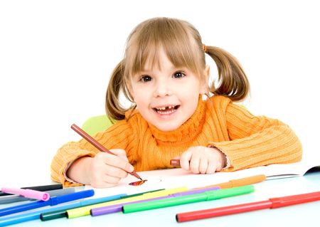child draws Stock Photo - 4538163