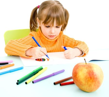 child draws Stock Photo - 4538157