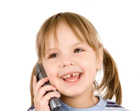child with telephone photo