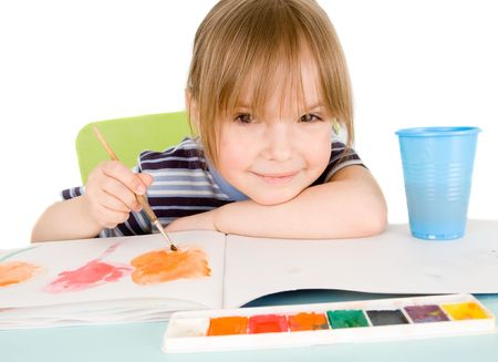 Child draws Stock Photo - 4661991