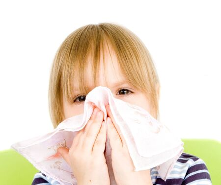 Child with handkerchief