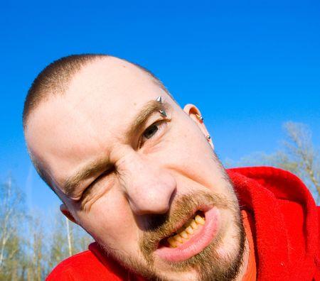 aggressive man photo