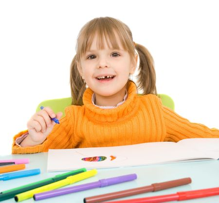 child draws Stock Photo - 4819654