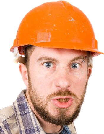 man with safety helmet photo