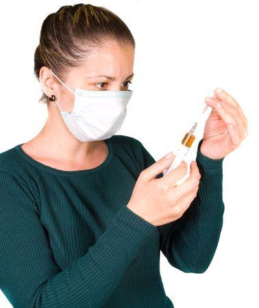 smock: woman with syringe