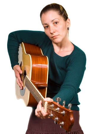 woman with guitar photo