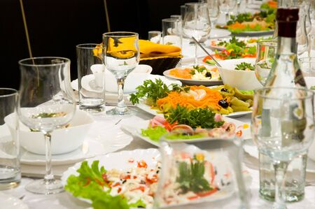 business dinner: banquet Stock Photo
