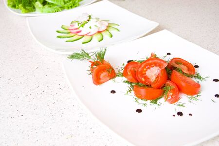 salad of tomatoes and dill Stock Photo - 9399540
