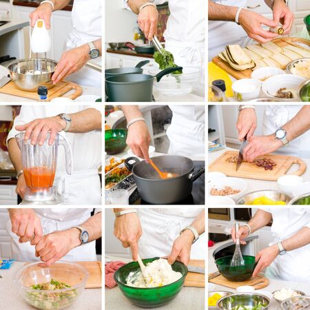 hands of chefs in the process photo