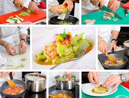 chef cooking ravioli