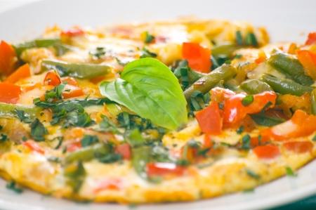 scrambled eggs: Tortilla de judías verdes