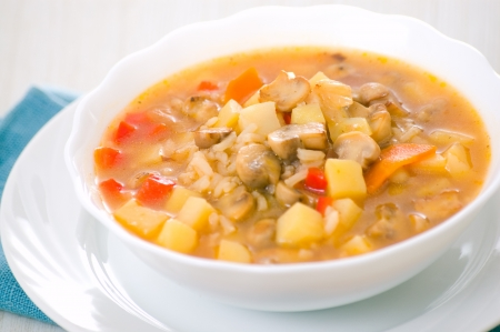 potato soup: mushroom soup with potato and rice