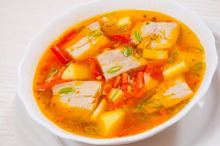 potato cod: Fish soup with vegetables